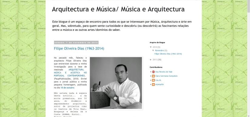 Dissertações e teses portuguesas sobre arquitetura emúsica